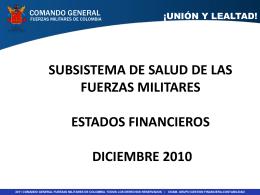 subsistema de salud de las fuerzas militares estados