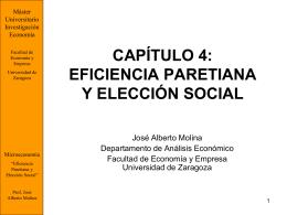 capítulo 4: fundamentos: eficiencia paretiana y eleccion social