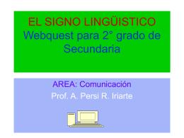 El signo lingüistico
