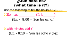 Answer the following questions in Spanish