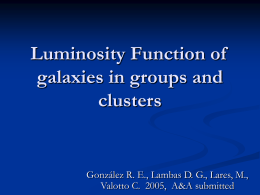 Luminosity Function of group and cluster of galaxies