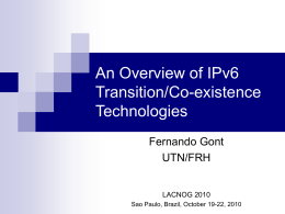 IPv6 - gont.com.ar