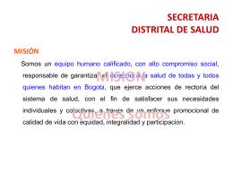 SECRETARIA DISTRITAL DE SALUD