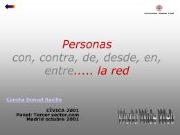 Cívica 2001 - Concha Doncel