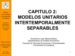 modelos unitarios intertemporalmente separables