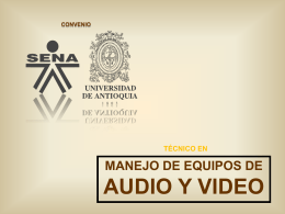 Tipos de luces - Técnico en Manejo de Equipos de Audio y Video