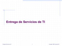 Entrega de Servicios de TI