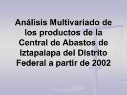 Análisis Multivariado de los productos de la Central de