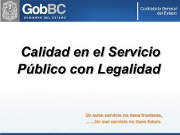 Calidad en el Servicio Publico 2008
