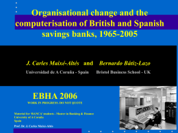 Organisational change and the computerisation of British and