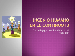 INGENIO HUMANO - CurriculoescritoTBS