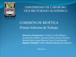 Comisión de Bioética - Universidad de Carabobo