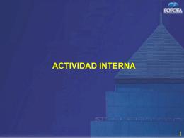 ver presentación Sr. Juan Claro (Actividad Interna)