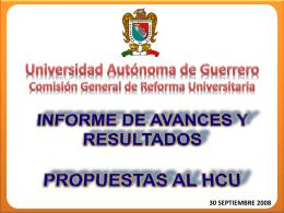 La Comisión General de Reforma Universitaria de la UAG