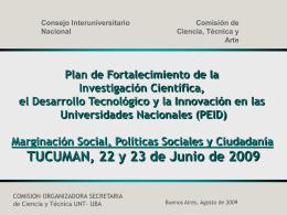 (PEID)   Marginación Social, Políticas Sociales y Ciudadanía