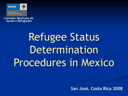 Refugee Status Determination Procedures in Mexico