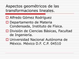La cuarta dimensión - Páginas Personales UNAM