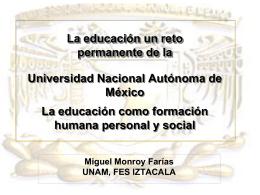 PowerPoint - Las Ciencias en la UNAM