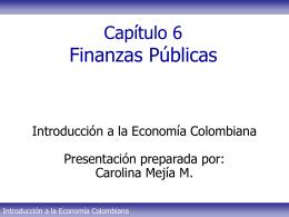 Tema 6 - Finanzas públicas Parte I CMM