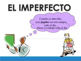 el imperfecto - SpanishLanguageWiki