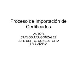 Proceso de Importación de Certificados