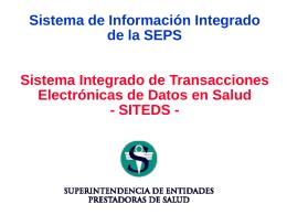 Presentacion SITEDS - FORO INTERNACIONAL 2002
