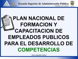 plan nacional de formacion y capacitacion de empleados publicos
