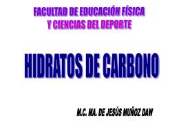 HIDRATOS DE CARBONO FUNCIONES para enviar