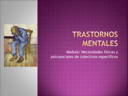 Trastornos mentales - CFGM Atención a Personas en Situación de