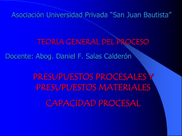 capacidad procesal - Universidad Privada San Juan Bautista