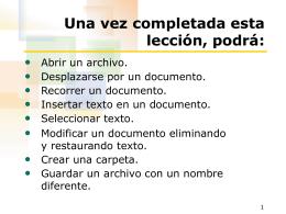Editando un documento