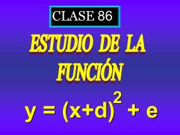 Clase 86: Función Cuadrática. Traslaciones