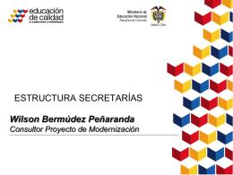 Wilson Bermúdez Peñaranda Consultor Proyecto de Modernización