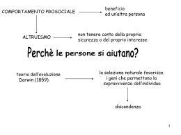 Slides di Psicologia sociale