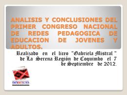 Conclusiones PRIMER Congreso2012