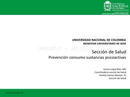 Prevención consumo spa - Bienestar Universitario