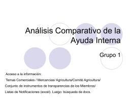 Análisis Comparativo de la Ayuda Interna