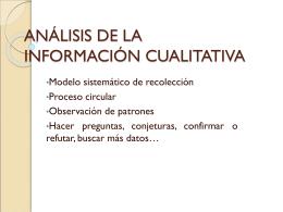 ANÁLISIS DE LA INFORMACIÓN CUALITATIVA - ana-upn