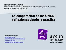 Documento Sesión 3 dic - Cooperación Internacional para el