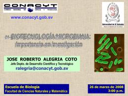 Biotecnología Microbiana - Consejo Nacional de Ciencia y Tecnología