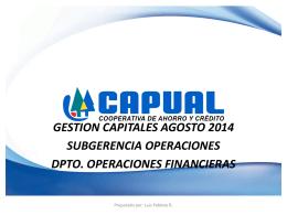 Informe Gestión de Capital Agosto 2014