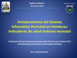 Indicadores Honduras Octubre 2012
