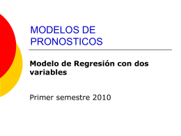 Regresión con 2 variables