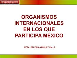 organismos internacionales en materia de aduanas