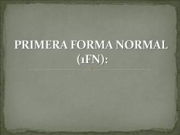 primer forma normal - fundamentosdebasededatosmaribelduenasroa