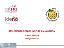 Implementación de INSPIRE en Navarra - PCyP SITNA