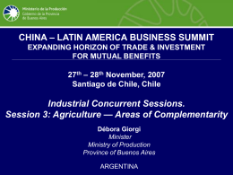 Argentina – China