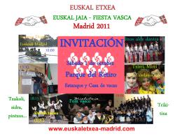 Presentación de PowerPoint - euskal etxea / hogar vasco de madrid