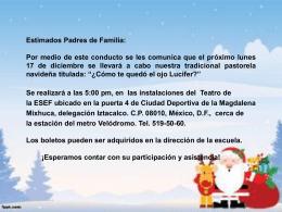 INVITACION PASTORELA[1] - Instituto Pedagógico Emmanuel