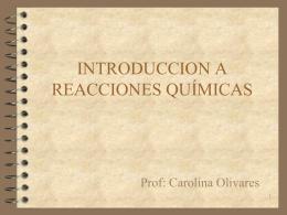 REACCIONES QUÍMICAS - Colegio Dario Salas